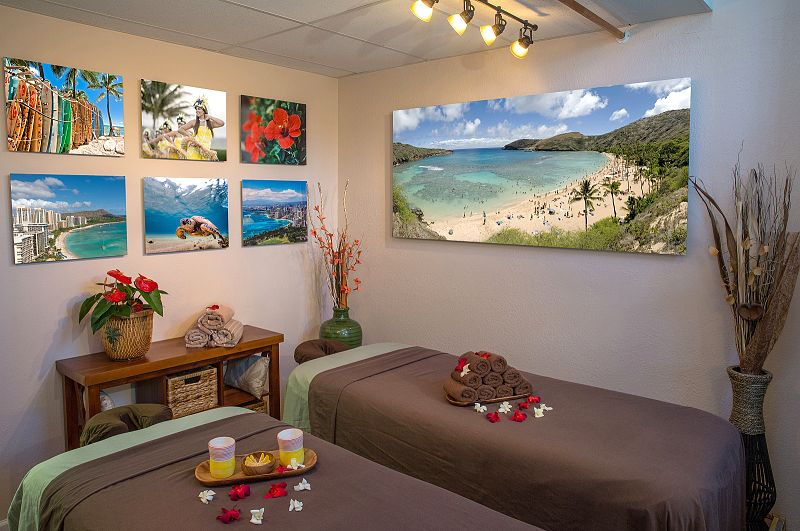 Hawaii Natural Therapy - Oahu Massage Room