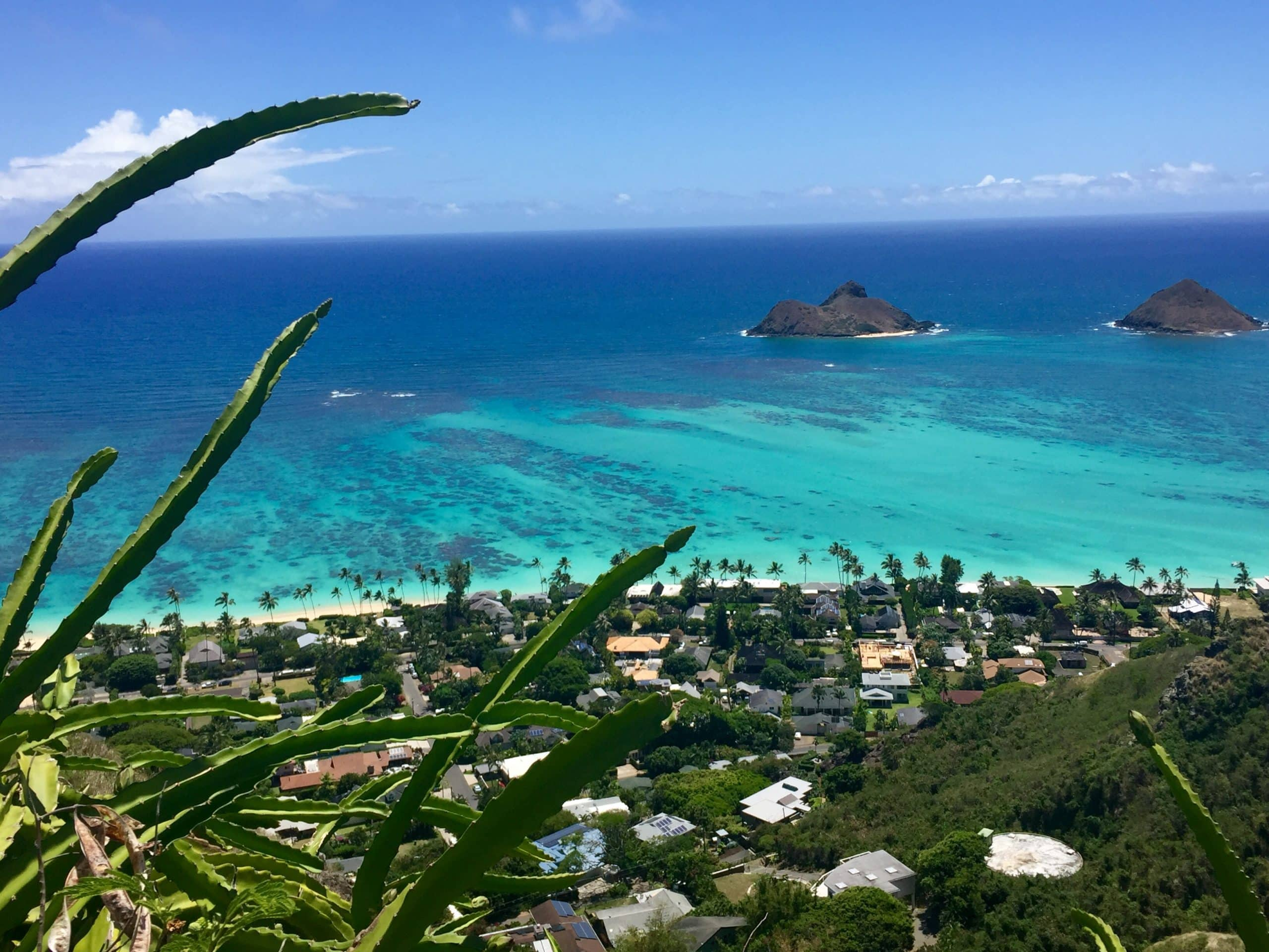 Lanikai Pillbox View from the Easy and Beautiful trail